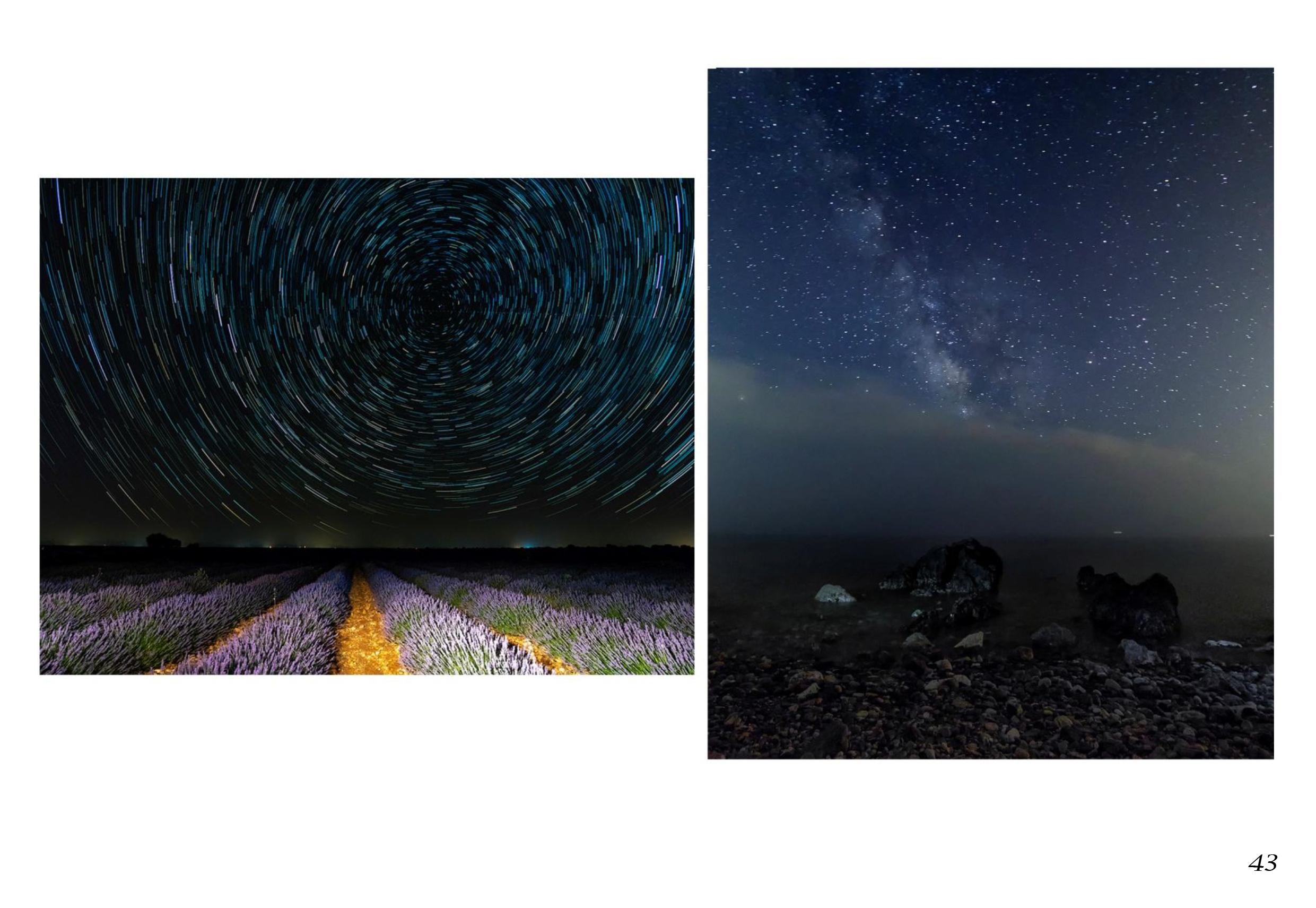 Circumpolar en Brihuega y Vía Láctea en Nerja