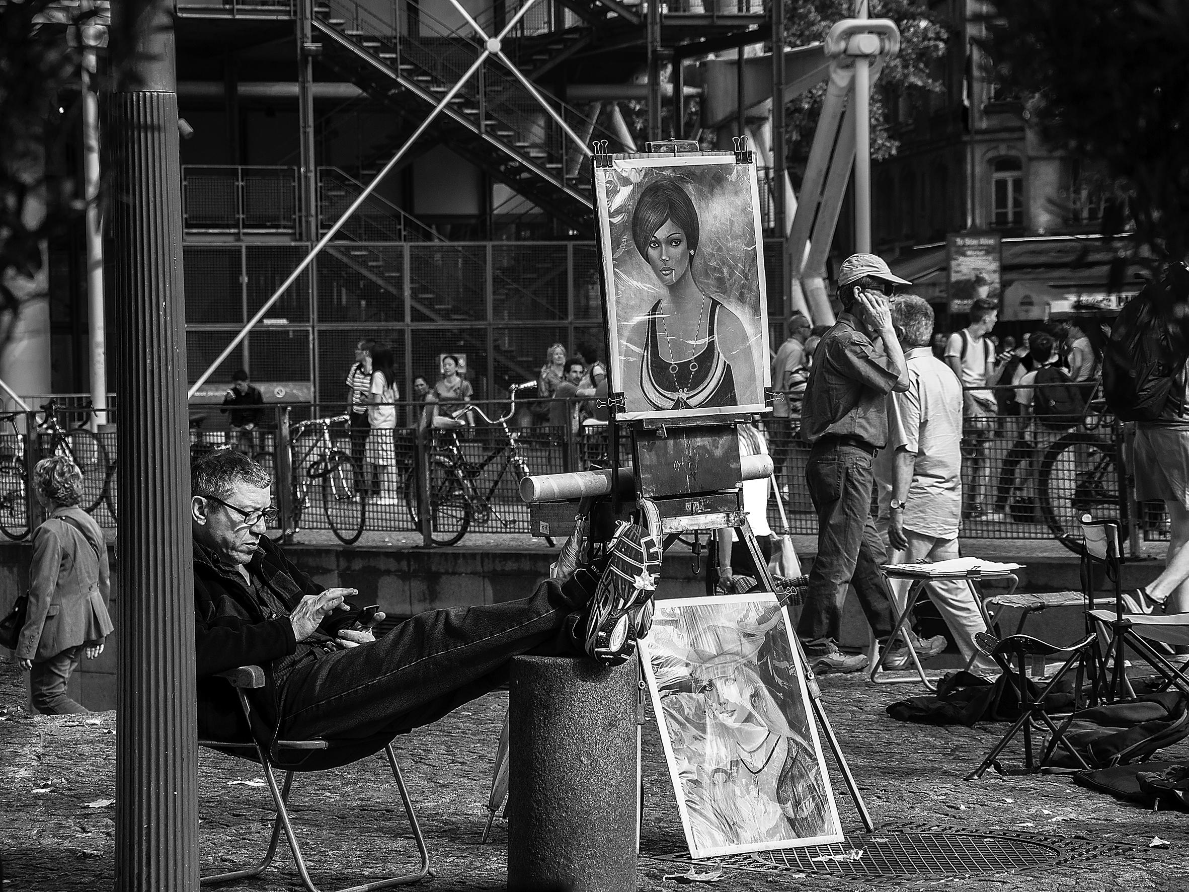 Pintores en el Pompidou