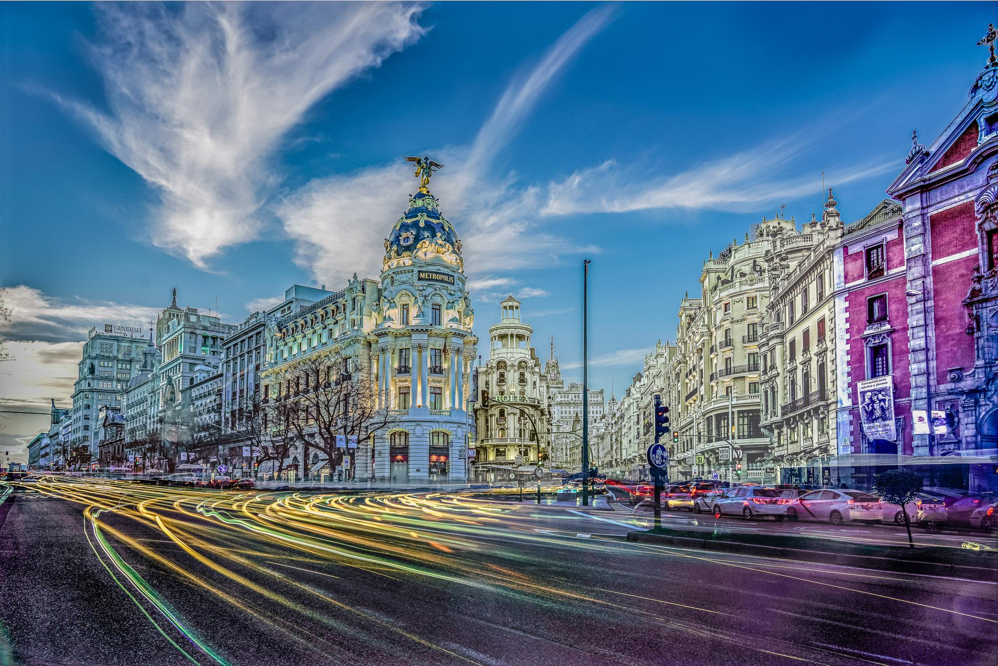 Gran Vía, Madrid, Febrero